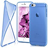 moex iPhone 6S Plus | Hülle Silikon Transparent Blau Clear Back-Cover TPU Schutzhülle Dünn Handyhülle für iPhone 6 Plus / 6S + Plus Case Ultra-Slim Silikonhülle Rückseite
