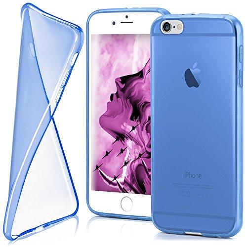 iPhone 6S Plus Hülle Silikon Transparent Grau [OneFlow Clear Back-Cover] TPU Schutzhülle Dünn Handyhülle für iPhone 6 Plus / 6S + Plus Case Ultra-Slim Silikonhülle Rückseite SKY-BLUE