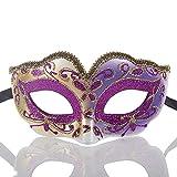 YGD Maske, Karnevalsmaske, Kinder Halbe Gesichts-Goldpuder-Schablonen-Partei/Maskerade Venedig Party Maske/Feiertag Halloween-Maske,F