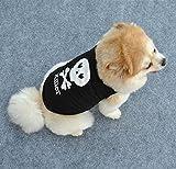 Animalerie Abbigliamento maglietta S per Cane, motivo Killer 2OS Badass Nero e Bianco