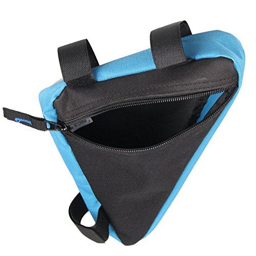 Bike Taschen, Fahrrad Lenker Staubbeutel Top Tube Triangle Bag Front Sattel Rahmen Tasche Outdoor. Blau