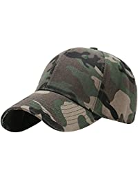 LQZ Cotton Camo Outdoor Sports Tennis Baseball Cap Sun Hat for Women Men