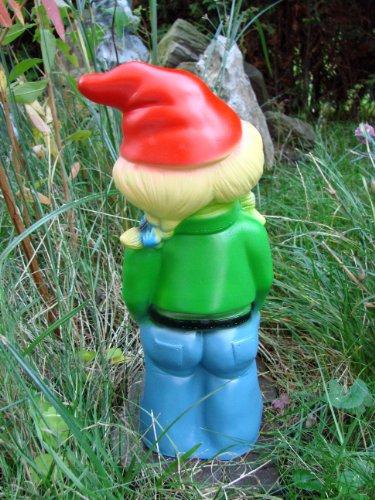 Gartenzwerg Zwergenfrau aus bruchfestem PVC Zwerg Made in Germany Figur - 3