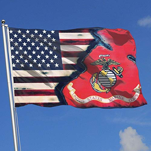 dfhsdh Flagge American Marine Corps Flags 3x5 Foot Banner 3X5 Ft Polyester Banner Flags -