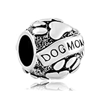 Uniqueen Christmas Gifts Paws Animal Dog Mom Charm New Beads Fit Bracelet