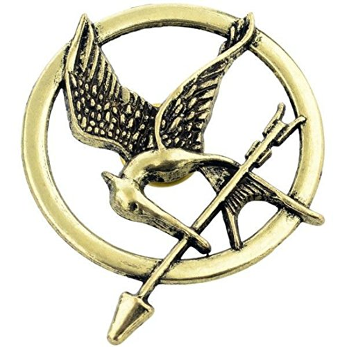 (Hunger Games Mockingjay Pin Brooch Movie Inspired Badge Catching Fire Cosplay Fancy Dress Must Have)