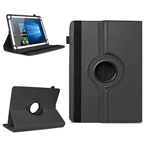 Xido Z120 Z110 X111 X110 Tablet Tasche Schutzhülle hochwertiges Kunstleder Hülle Standfunktion 360° Drehbar Cover Universal Case, Farben:Schwarz