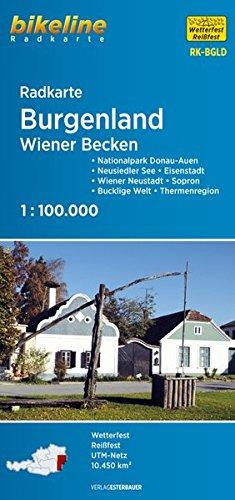 Burgenland: Wiener Becken (Bikeline Radkarte)