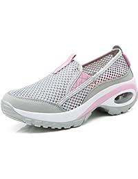 2545fadea563 Solshine Damen Mesh Atmungsaktive Outdoor Luftpolster Walkingschuhe Sportschuhe  Sneakers…