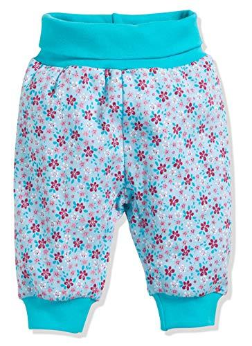 Schnizler Kinder Pump-Hose aus 100% Baumwolle, komfortable und hochwertige Baby-Hose mit elastischem Bauchumschlag, mit Blumen-Muster - Blumen-pumphose