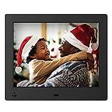 NIX Advance Digitaler Bilderrahmen 8 Zoll X08E. IPS Display für Fotos & Videos. Elektronischer Fotorahmen mit Uhr/Kalender-Funktion. Auto On/Off (Bewegungssensor). Inkl. Fernbedienung
