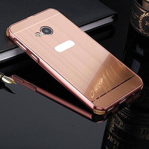 Dreamworldeu Aluminum Metal Frame Hülle für HTC U Play Schutzhülle Bumper Case Acrylic Back Cover für HTC U Play