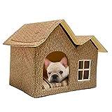 Fancylande Hundehütte Katzenhöhle, Doppelhaus für Haustiere Pet Nest Hundebett Weiche Katzenbett Haustier Schlafsack