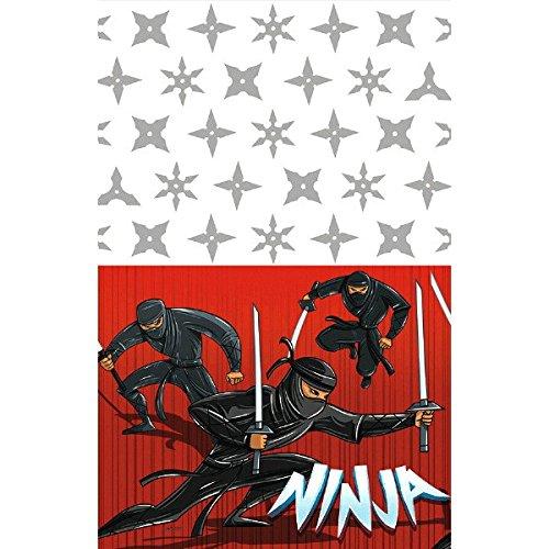 (Amscan 571587Tischdecke, Ninja-Motiv, Kunststoff, 1,3x 2,59m)