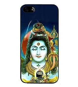 Fuson Designer Back Case Cover for Apple iPhone 4S (Lord Shiva Omkara PArameshwara Pashupati Sadashiva)