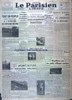 PARISIEN LIBERE (LE) [No 268] du 26/06/1945