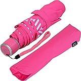 iX-brella Mini Kinderschirm Safety Reflex Extra Leicht - Neon Pink