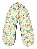 Flexofill 2008-1-596 - cuscino da gravidanza - con federa - XL 190 x 40cm - foresta beige