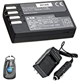 Amsahr S-DLI109 Digital Replacement Battery Plus Travel Charger for Pentax D-LI109 K-r K2 with Lens Accessories Pouch (Gray)
