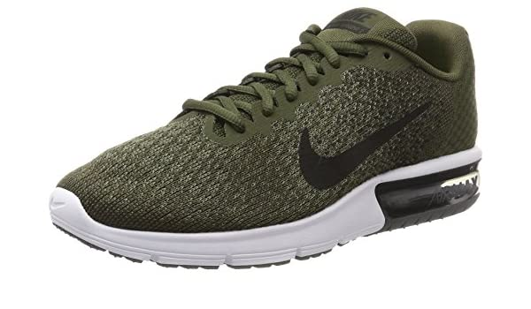 new arrivals ba736 c68ec Nike Men s Air Max Sequent 2 Olive Green Running Shoes