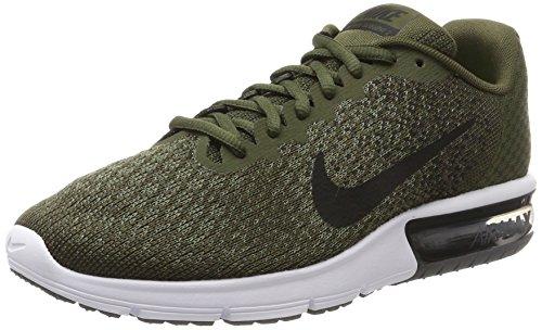 Nike Herren Air Max Sequent 2 Gymnastikschuhe, Grau (Cargo Khaki/Black-Med Olive-Dark Grey-Volt), 44 EU (Cargo Nike Herren)