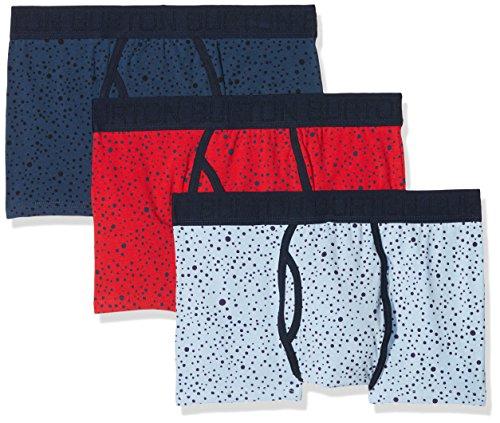 Burton Menswear London Herren Badehose, 3er Pack Blue (Mid Blue)