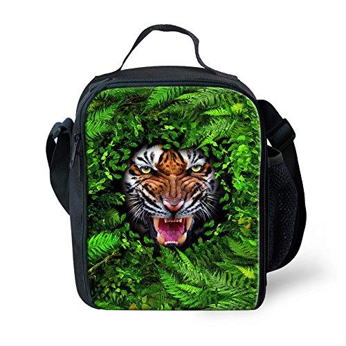 Thikin Forest Animal stampa pranzo borse termica isolante per scuola elementare da ragazzi Green3 Green10