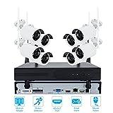 8CH CCTV System Wireless 720 P/960 P/1080 P NVR 8 STÜCKE IR Im Freien Wasserdichte P2P Wifi IP CCTV Überwachungskamera System Surveillance Kit (720P)