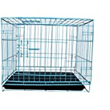 SRI Dog Cage for Dog with Removable Tray, 18 inch Light Blue