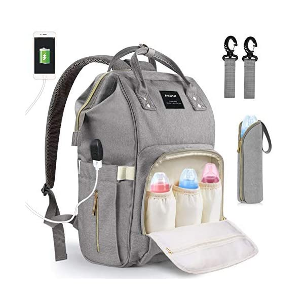 517823000 Baby Changing Bag, MoFut Baby Diaper Nappy Rucksack Backpack Multi-Function Waterproof  Travel Backpack with USB Port ...