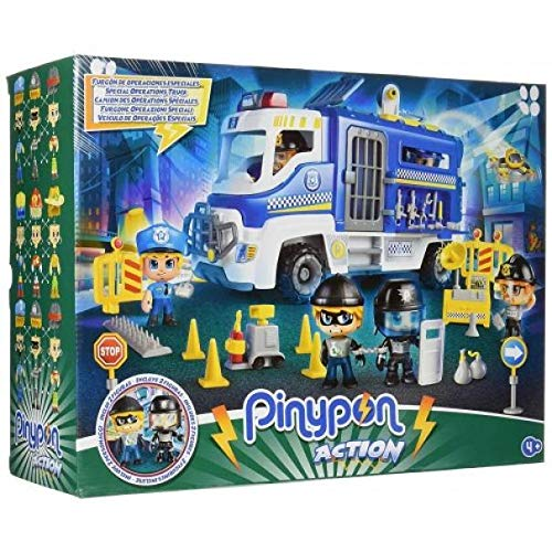 Giochi Preziosi - Camión de policía con 2 Personajes y Accesorios