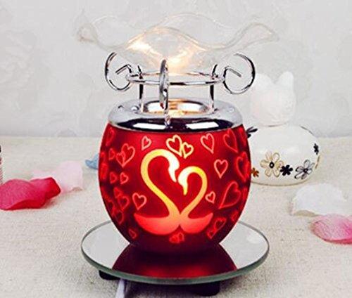 Lampada Aromaterapia vetro metallo elettrico plug-in Camera dimmerabili decorazione del salone di studio , (Modello Di Olio Di Vetro Lampada)