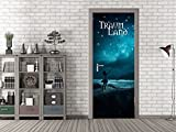 GRAZDesign 791689_92x213 Tür-Bild Spruch Traumland | Aufkleber Fürs Wohnzimmer | Türfolie Selbstklebend (92x213cm//Cuttermesser)