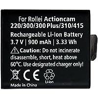Rollei Battery AC 220, 300, 310 - Batterie au lithium-ion rechargeable pour Rollei Actioncam 220, 300, 300plus, 310, 320, 415, 416