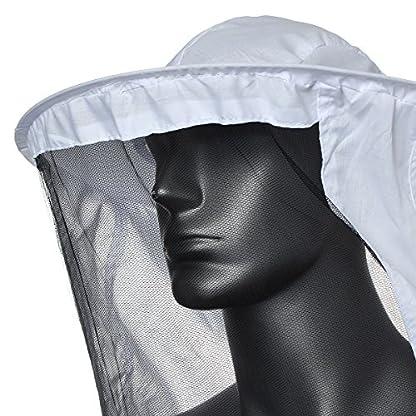 Bee Suit, OUTERDO Protective Beekeeping Veil Smock Beekeeper Suit Coat Jacket Equipment with Hat&Gloves 5
