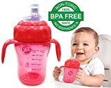 #3: 210 ml Milk Training Cup with Spout, Straw and Handle T&K Sipper Bottle Cup – Sippy Cup, 6 Months+ BPA Free + Leak Proof Spill Proof Baby Toddler Sipper Cup Bottle Imported
