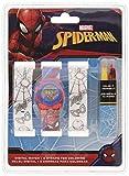 Spiderman - Orologio da Polso Digitale con Cinturino per dipingere (MV15531), Multicolore