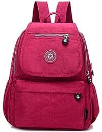 Women's Small Handbag Nylon Shoulder Bag Casual Day Pack Multi-Pocket Casual Waterproof Nylon Bags Travel School Bag Laptop Backpack Rucksack