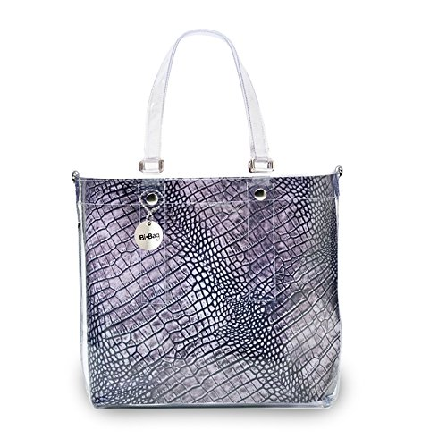 "BI-BAG borsa donna modello EASY ""ANIMAL COLLECTION"" Grigio Pitonato"