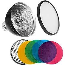 Godox ad-s2reflector de luz estándar con suave fotografía difusor y AD-S11Filtro de color paquete de Gel para AD200Flash Witstro AD180AD360AD360II