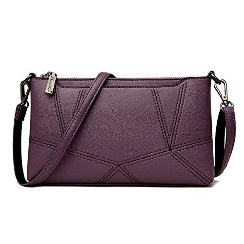 Dame Clutch Weibliche Stitching Korean Fashion Einfache Wild Messenger Bag Umhängetasche C