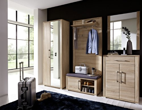 Stella Trading OGHH153080 Garderobe, Holz, braun, 40 x 268 x 200 cm