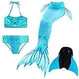 Das beste Il miglior ragazza bikini badeanzuege schoenere coda di sirena per il nuoto con sirena Pinne Nuoto Costume Coda–Un ragazza sogno A07 130 cm