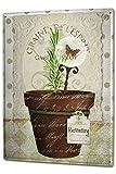 Cartel Letrero de Chapa XXL Plantas Pote de flor de mariposa romero