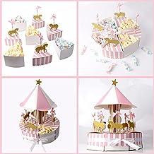 iBellete 8 Piezas Carrusel Caja de Dulces Favor de la Boda Souvenirs y Regalos para los