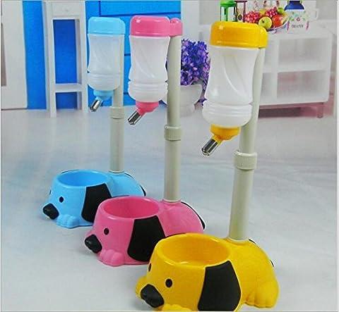 Valoxin (TM) Nouvel Animal domestique Bol Auto réglable Chien Chat Fontaine pour nourriture Distributeur d'eau pour animal domestique Bol Mangeoire Dual Port Chien Bol d'eau automatique