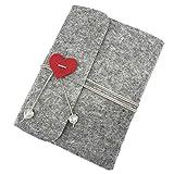 Ufamiluk Scrapbook Album DIY Fotoalben Buch Selbstklebend Foto Album für Hochzeitstag Geschenke 17.5cm x 19cm, Grau-60 Seiten
