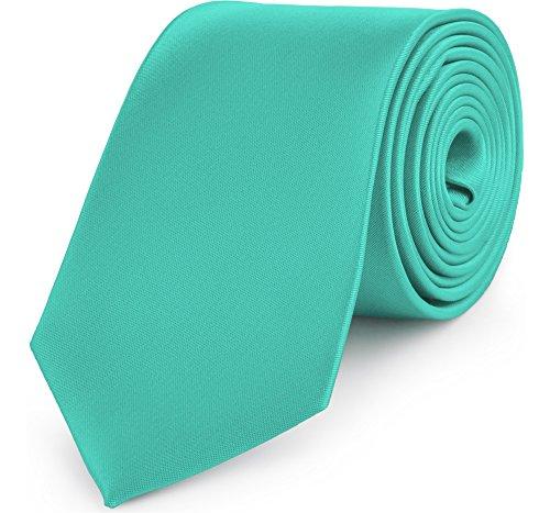Ladeheid Corbatas Anchas Diversidad de Colores Accesorios Ropa Hombre KP-8 (150cm x 8cm, Turquesa)