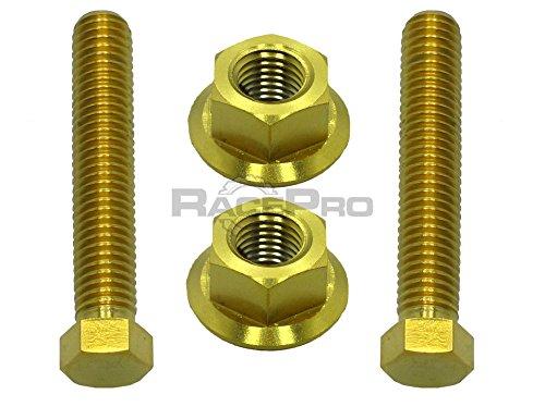 Preisvergleich Produktbild RacePro Gold Titan Achsmuttern Kettenspanner - Kawasaki Z1000 03-06