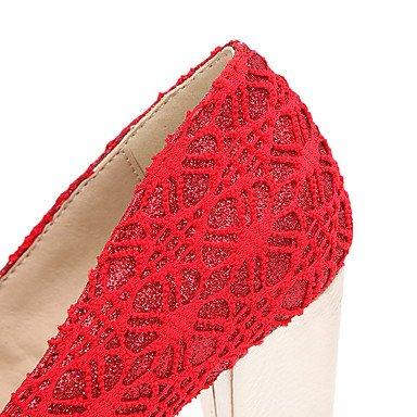 LvYuan Da donna-Sandali-Matrimonio Formale Serata e festa-Comoda Club Shoes-Quadrato-Tulle-Nero Rosso Beige Black